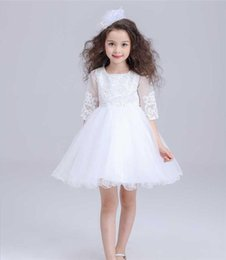 White Clothes For Baptism Australia - New Ivory White Baby Girls Birthday Dresses For Baptism Infant Princess Lace Christening Gown Newborn Toddler Bebes Clothes