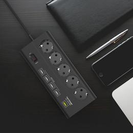 $enCountryForm.capitalKeyWord NZ - European 5 gang USB Power Strip Surge Protector Quick Charge 3.0 USB port EU extension socket EU Plug Power board