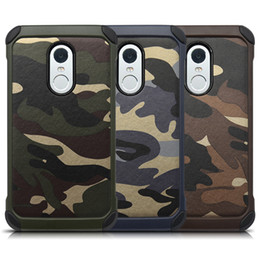 Army Style Camouflage Case for Xiaomi Redmi Note2 3 Note4 Camo Cases Anti Shock Matt Hard Back Cover for Xiaomi 4 5 6 Protector