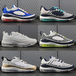Discount sneaker shoes uk - New White Blue Grey Yellow Air OG 98 Gundam Jogging Running Shoes Mens 98s Black Red Navy Fluorescent Green Athletic Spo