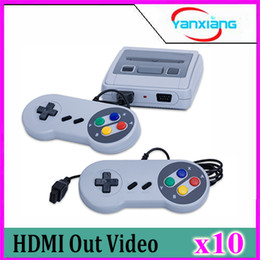 $enCountryForm.capitalKeyWord NZ - 10PCS Wholesale Super Mini HDMI Game Console Family TV Games Consoles For Child and Adult 2 Controllers Play Joyssticks Via DHL YX-SFC-01