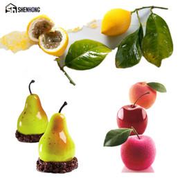 Discount fruit art apple - SHENHONG POP Fruit 3D Mousse Art Cake Mould Pear Apple Silicone Decoration Mold Silikonowe Moule Formy Baking Pastry