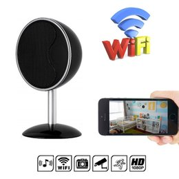 Security Camera Wider View NZ - 32GB WiFi Bluetooth Speaker Camera Mini 1080p Security Camera Wide Angle Motion Detection for Home Wireless Nanny Cam for iOS Android View