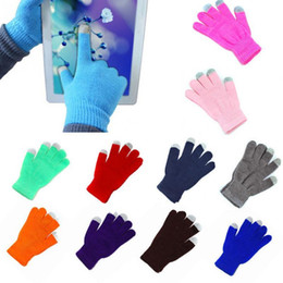 $enCountryForm.capitalKeyWord NZ - New Unisex Candy Color Soft Stretch Knit Winter Warmer Gloves Can Using for Smartphone Mobile Phone Free Size D18110806