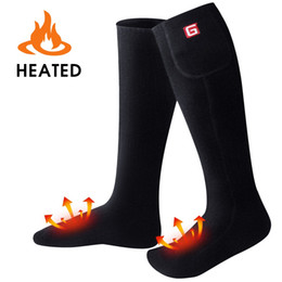 used socks 2018 - Winter Warm Heated Socks 3.7-Volt Black Feet Warmer For Men and Women to Rechargable Battery Use for Cold Winter cheap u