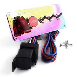 $enCountryForm.capitalKeyWord NZ - Free Shipping Neo Chrome 3 Position 12V Lgnition Switch Panel Racing Car Start Switch Engine Start Push Button LED Toggle
