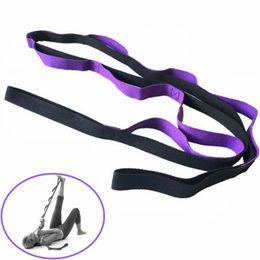 Sports Equipments UK - Professional Fitness Equipments Body Building Sport Stretch Strap Belt Gym Waist Leg Yoga Belt Rope Resistance Exercise Bands