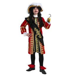 $enCountryForm.capitalKeyWord UK - IREK hot Halloween Costume Party Caribbean Pirate Cosplay Costume High End Adult Hook Pirate Captain performance Clothing