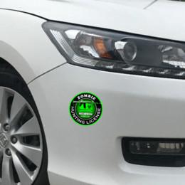 Hunting Stickers NZ - HotMeiNi 13cm x 13cm Car Styling Car Sticker Zombie Hunting License Bio Hazard AK 47 Round Decal Waterproof Accessories