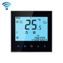 WIFI Control Programmation Hebdomadaire Ventilateur Bobine Pièce Thermostat AC 110-240 V 2A Intelligent Central Climatisation Contrôleur de Température