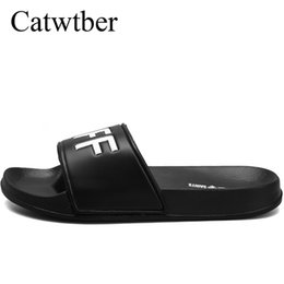 f7acec08e8f4 Catwtber Brand Slippers Men Flip Flops Bathroom Shower Flats Slippers  Indoor Home Beach Summer Flat Heel Casual Flats