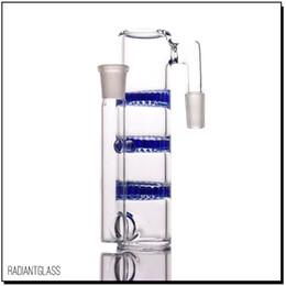 Triple Percolator Water Pipe NZ - Triple honeycomb percolator HC ash catcher18.8-18.8 14.5-14.5 water pipe glass ashcatcher bubbler