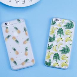 Discount banana phone cover - Fashion Funny Fruit Banana Pattern case For iphone 6 Case For iphone 7 6 6S 8 Plus case Pineapple TPU Phone Back Cover