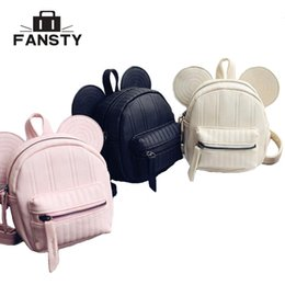 $enCountryForm.capitalKeyWord Canada - Cute Girls Backpacks Women Mini School Bags Casual PU Leather Brand Designer Children's Mouse Ear Daypack Princess Bag Rucksack
