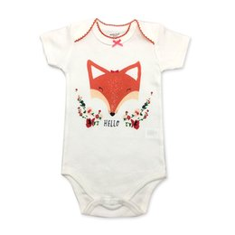 Wholesale Baby Bodysuits Newborn Girl Summer Short Sleeve Clothes Cute Cartoon Fashion Style One Pieces Infant Clothing