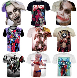 tee 3d Australia - Wholesale New Fashion Couples Men Women Harley Quinn Joker 3D Print Casual T-Shirts Tee Tops S-5XL