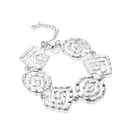 $enCountryForm.capitalKeyWord Australia - Thread Bracelet sterling silver plated bracelet ; New arrival fashion men and women 925 silver bracelet SPB324