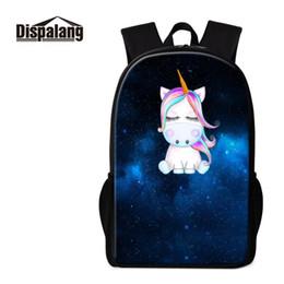 $enCountryForm.capitalKeyWord Canada - Dispalang Cartoon School Backpack For Girl Boys Blink Unicorn Women Backpack Galaxy Print Book Bag Kids Rucksack Bagpack