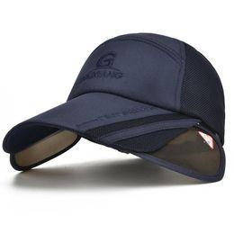 26699745577 7 Colors Summer Personality Ultra thin Quick Dry Beach snapback Breathable  Stretch Brim Hats Men Women Mesh Baseball Caps