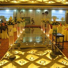 $enCountryForm.capitalKeyWord Australia - New 100cm*10M Wedding Mirror Carpet T Stage Carpet Runner For Wedding party Backdrop Decorations 0.12mm Thickness PET