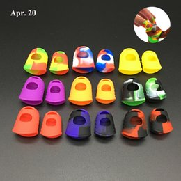 Thumb Silicon NZ - Wholesale Silicon Fingertip Protector 2 in 1 Silicon Finger Guards for thumb and forefinger free shipping SP001