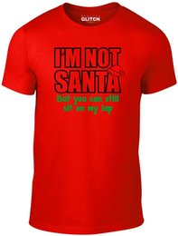 0bad939e Men's I'm Not Santa T-shirt Cheeky Christmas Festive Funny Xmas Festive  Design T Shirt Men's High Quality Summer