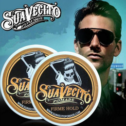 Back Hair Men Australia - Suavecito Pomade Strong style restoring Pomade wax big skeleton slicked back hair oil wax mud keep hair pomade for men Free Shipping