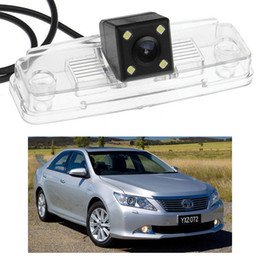 toyota backup cameras Australia - New 4 LED Car Rear View Camera Reverse Backup CCD fit for Toyota Aurion 2012-2014 2013 AU Version