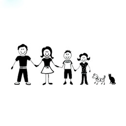 China Warm family stick figure pattern vinyl car sticker laptop decal CA-91 suppliers