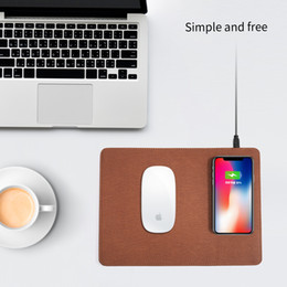 Apple mouse pAds online shopping - luxury leather materail wireless mobile phone charger mouse pad for samsung s8 plus s7 s6 iphone x plus
