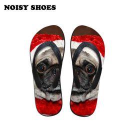 4f08635464fb56 Pink dog shoes online shopping - Dog pugs in christmas Flip Flops Women  Fashion Beach Home