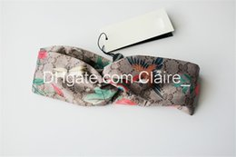 Chinese  Blooms Print Silk Headband Fashion Women Headband Boho Floal Style Criss Cross Head Wrap Hair Band Bandanas manufacturers