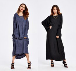 $enCountryForm.capitalKeyWord Canada - Wholesales 2018 Europe and the United States autumn and winter knit loose large size women's long sleeve dress bat sleeves In Stock Special
