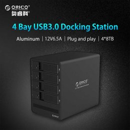 "Discount disk dock - ORICO 9548U3-BK 4-bay 2.5"" 3.5'' USB3.0 SATA HDD Enclosure Docking Station Case for Laptop PC (No Hard Di"