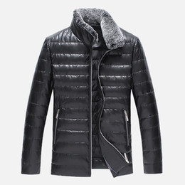 $enCountryForm.capitalKeyWord Canada - NEW luxury Leather Winter Jackets Men Clothes Black Casual Autumn Mens Winter Coats Cotton Padded Parka Keep warm down jacket
