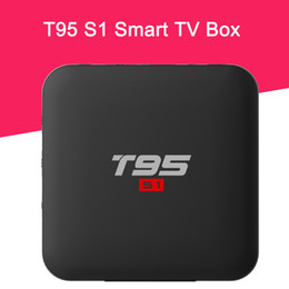 hdmi hd tv UK - T95 S1 Smart TV Box Amlogic S905W Quad Core 2GB 16G 1GB 8GB Android 7.1 OS