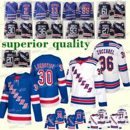 NEW New York Rangers 30 Henrik Lundqvist 36 Mats Zuccarello 27 Ryan McDonagh  93 Mika Zibanejad 2018-2019 new Hockey Jerseys fa3186338