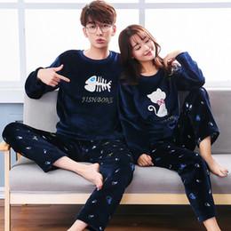 271e02e872 Autumn Winter Coral Velvet Couple Pajamas Plus Size 3XL 4XL 5XL Women Men  Flannel Thicken Home Service Suits warm Sleepwear set