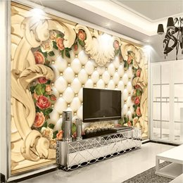Arkadi Custom 3D Photo Wallpaper Europe frame luxury rose leather Soft  Bedding Room Sofa Backdrop Mural Wall Paper For The Walls 3D 3073a6f4f71d