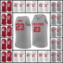 a93ab1020 Mens Ohio State Buckeyes 2 Musa Jallow 23 Lebron James 1 Jae Sean 3 C.J.  Jackson 4 Aaron Craft big College Basketball Jersey stitched jersey