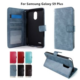 cards slots NZ - Wallet Case For LG Tribute Dynasty Launch For Samsung Galaxy S9 Plus inside Photo Frame Card Slots with stand D