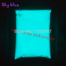 Discount glow dark powder pigment - Bright Sky Blue Color and Green Color Phosphor Powder Glow in the Dark Powder Luminous Pigment Photoluminescent Dust Coa