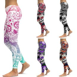 e7382377e07f29 Women Style Leggings skinny Pants 3D Digital mermaid Printing Slim Fitness  Workout Running Tights Trousers breathable dry pant EEA503 12PCS
