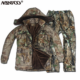 87d867bbf91cc Clothing Hunting Suit Australia - NEW 5PCS Winter Bionic Camouflage Hunting  Clothing Waterproof Thermal Fishing Camo