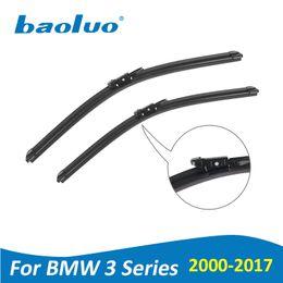 BAOLUO Escobillas de Limpiaparabrisas Para BMW 3 Series E46 E90 E91 E92 E93 F30 F31 F34 2000-2017 Suave Parabrisas De Goma Natural Accesorios Del Coche