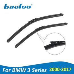BAOLUO Wischerblätter für BMW 3er E46 E90 E91 E92 E93 F30 F31 F34 2000-2017 Weiche Naturkautschuk Windschutzscheibe Autozubehör