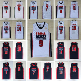7b77390ff Stitched 1992 USA Dream Team Men 5 David Robinson 6 Patrick Ewing 7 Larry  Bird 8 Scottie Pippen  9 Jersey 10 Clyde Drexler  12 John Stockton