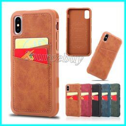 $enCountryForm.capitalKeyWord NZ - Double Credit Card Slots Phone Case For iPhone X 10 Dual Card Pockets PU Armor Shockproof Leather Design Back Cover Shell Good Qulaity