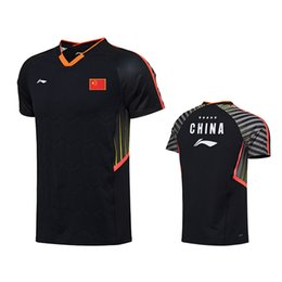 China 2018 new Lining badminton T-shirts, men's and women's sports clothes, national team sportswear, quick dry Breathable tennis shirts. suppliers