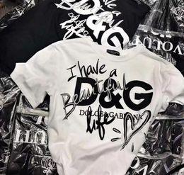 Camiseta estampada con logo de primavera / verano con estampado de camiseta femenina de manga corta con cuello redondo, manga corta, versión grande de la camiseta.Sudaderas